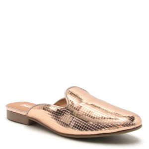Moving Sale! Metallic Rose Gold Mules